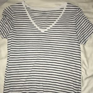Old Navy Striped V-Neck T-shirt